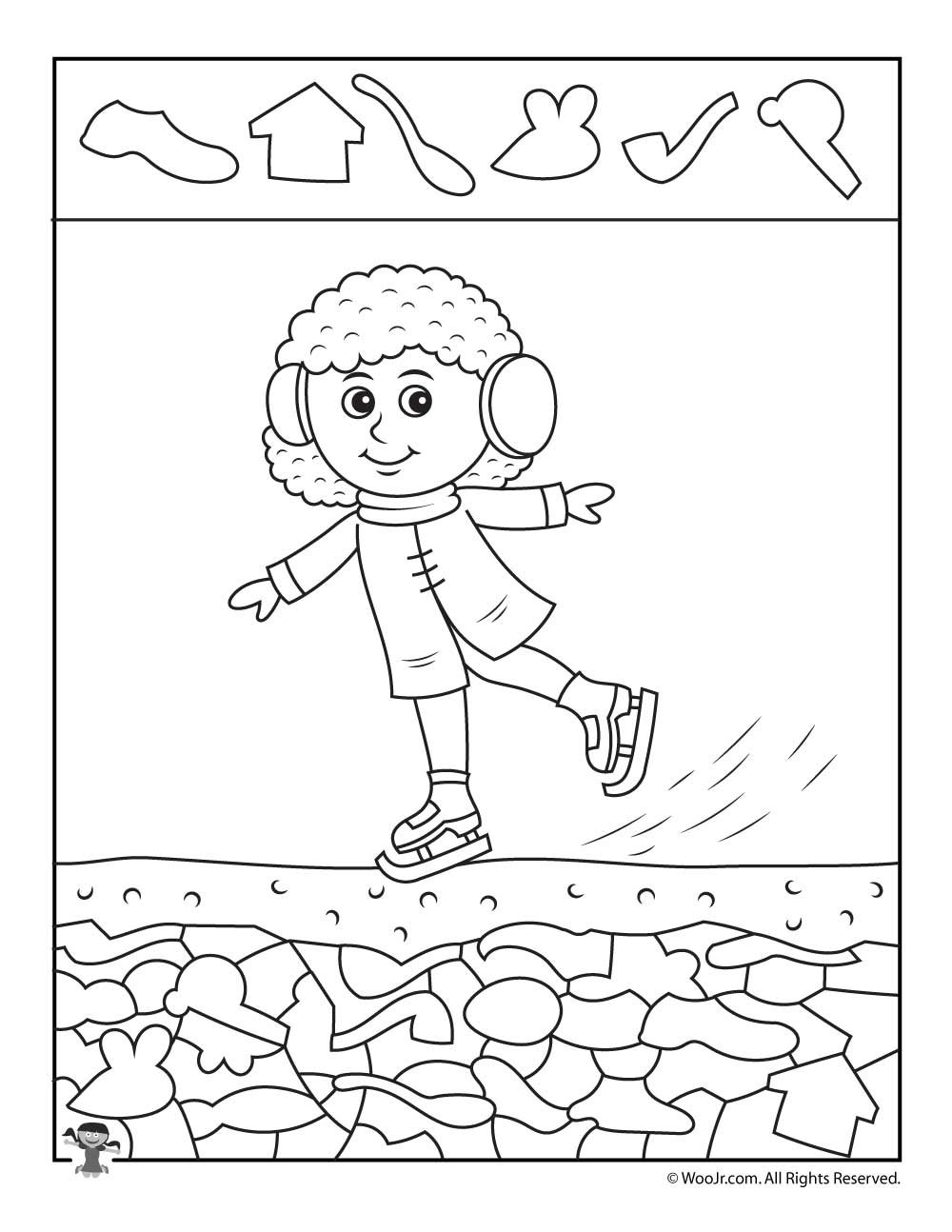 Summer Hidden Pictures Coloring Pages
