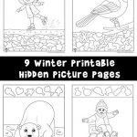 Winter Hidden Pictures Coloring Pages