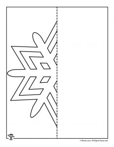Snowflake Symmetry Drawing Practice Worksheet