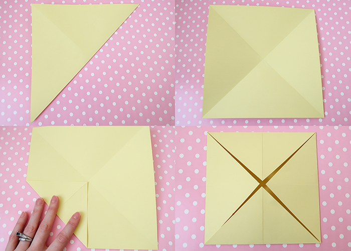 How to make a Cootie Catcher Step by Step Instructions - Red Ted ... | 500x700
