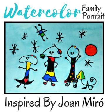 Watercolor Family Portrait: Inspired By Joan Miró