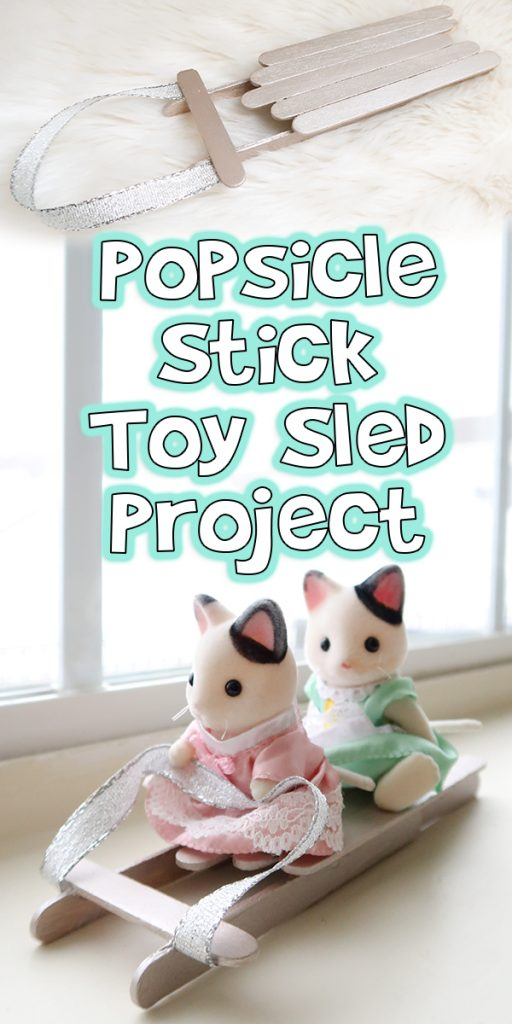 Popsicle Stick Toy Sled Project