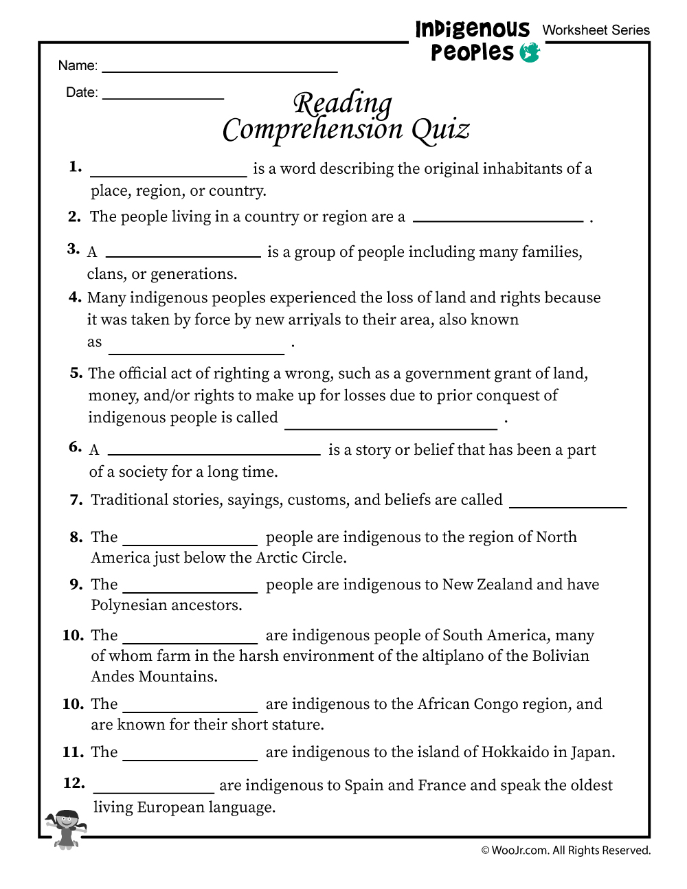 - Indigenous Peoples Reading Comprehension Quiz Woo! Jr. Kids