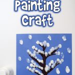 Snowy Tree Finger Painting Winter Art Project for Kids