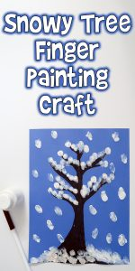 Snowy Tree Finger Painting Craft