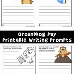 Groundhog Day Writing Prompt Worksheets