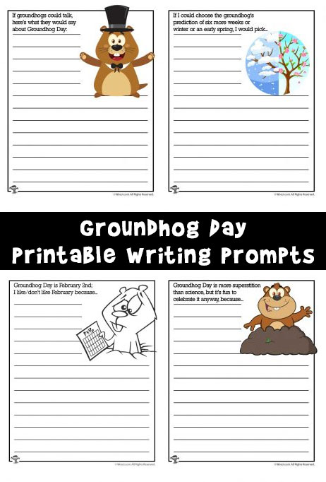 9 Groundhog Day Printable Writing Prompts