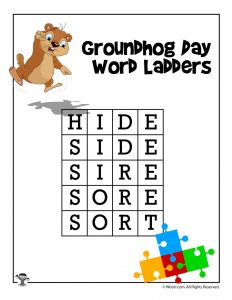 Groundhog Day 4-Letter Word Ladder Answers