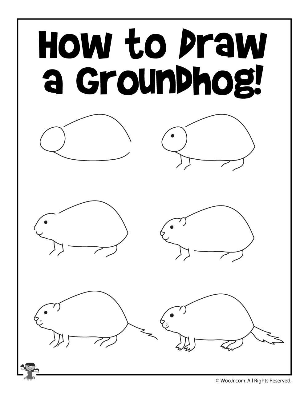 Groundhog Day Activity Pages - Woo! Jr. Kids Activities