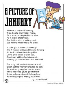 A Picture of January Children's Poem