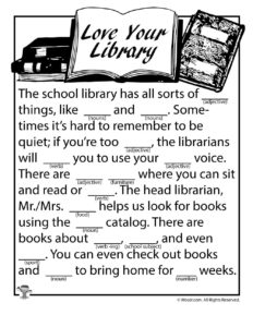 Love Your Library Ad Lib Worksheet