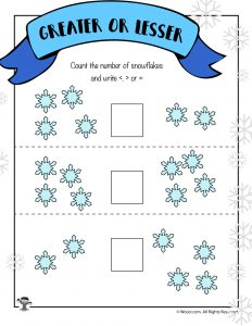 Visual Easy Greater Than - Less Than Worksheet