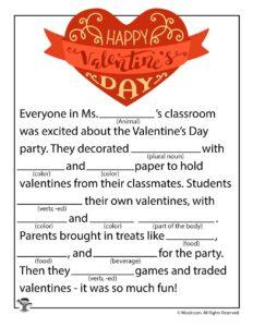 Happy Valentine's Day Ad Lib for Kids