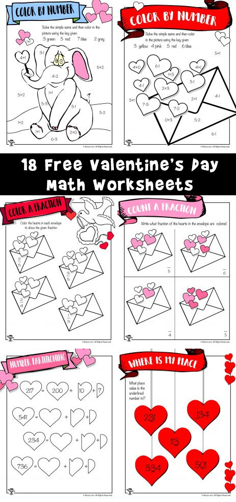 18 Free Valentine's Day Math Worksheets