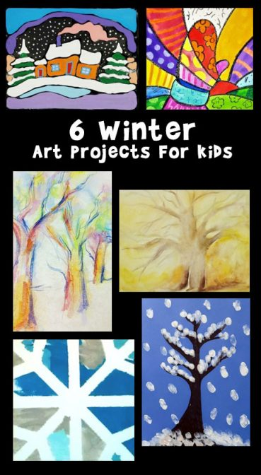 6 Winter Art Projects for Kids