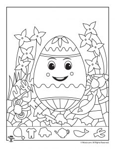 graphic regarding Printable Hidden Picture Game titled Easter Concealed Photos Printable Match Webpages Woo! Jr