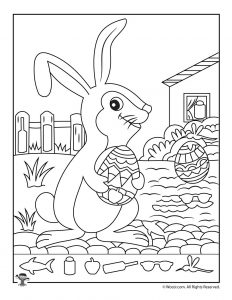 Easter Bunny Find the Item Activity Page