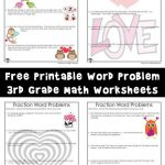 Valentine's Day Math Word Problems with Fractions