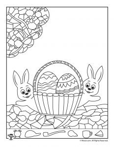 Easter Hidden Picture Activity Page