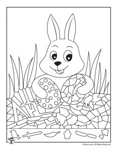 Easter Bunny and Eggs I Spy Game