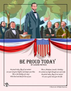 Be Proud Today Kid's Poem for Presidents Day