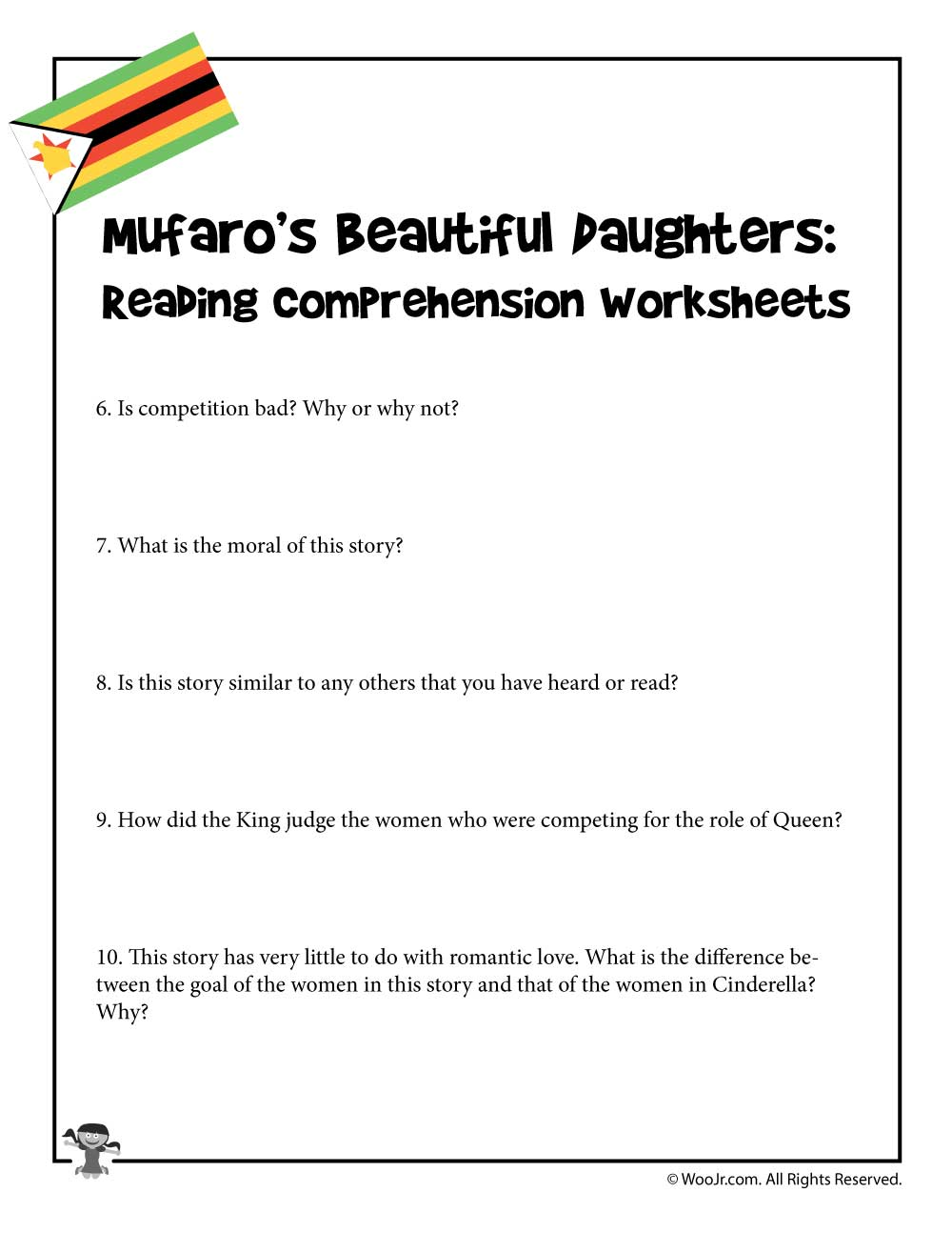 - Reading Comprehension Questions 6-10 Woo! Jr. Kids Activities