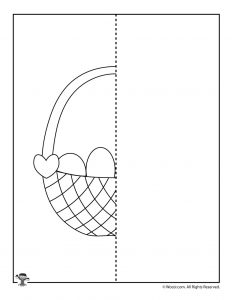 Easter Basket Complete the Drawing Worksheet