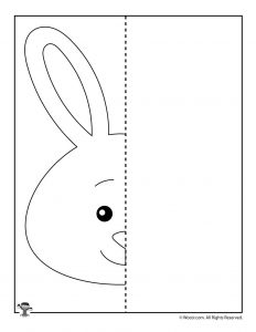 Draw a Bunny Art Worksheet