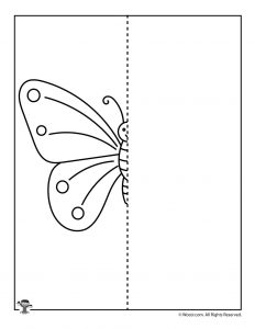Spring Butterfly Drawing Activity Page
