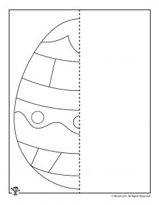 Easter Egg Finish the Picture Printable