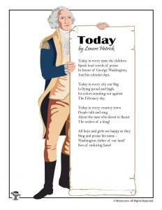 Today Children's Poem for Presidents Day