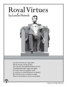 Royal Virtues Poem About Abraham Lincoln