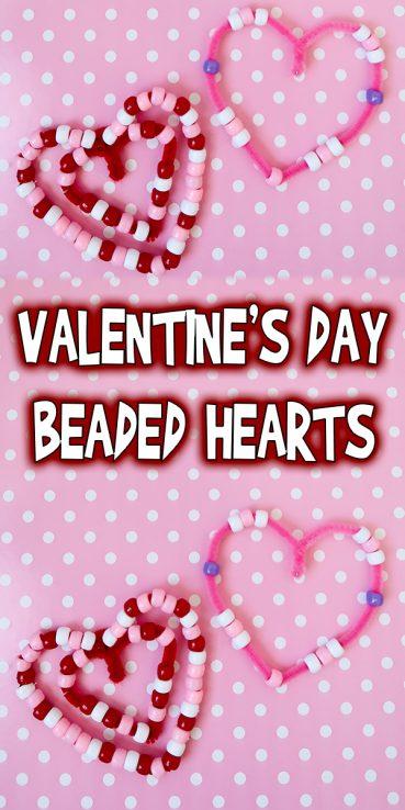 Valentine's Day Beaded Hearts