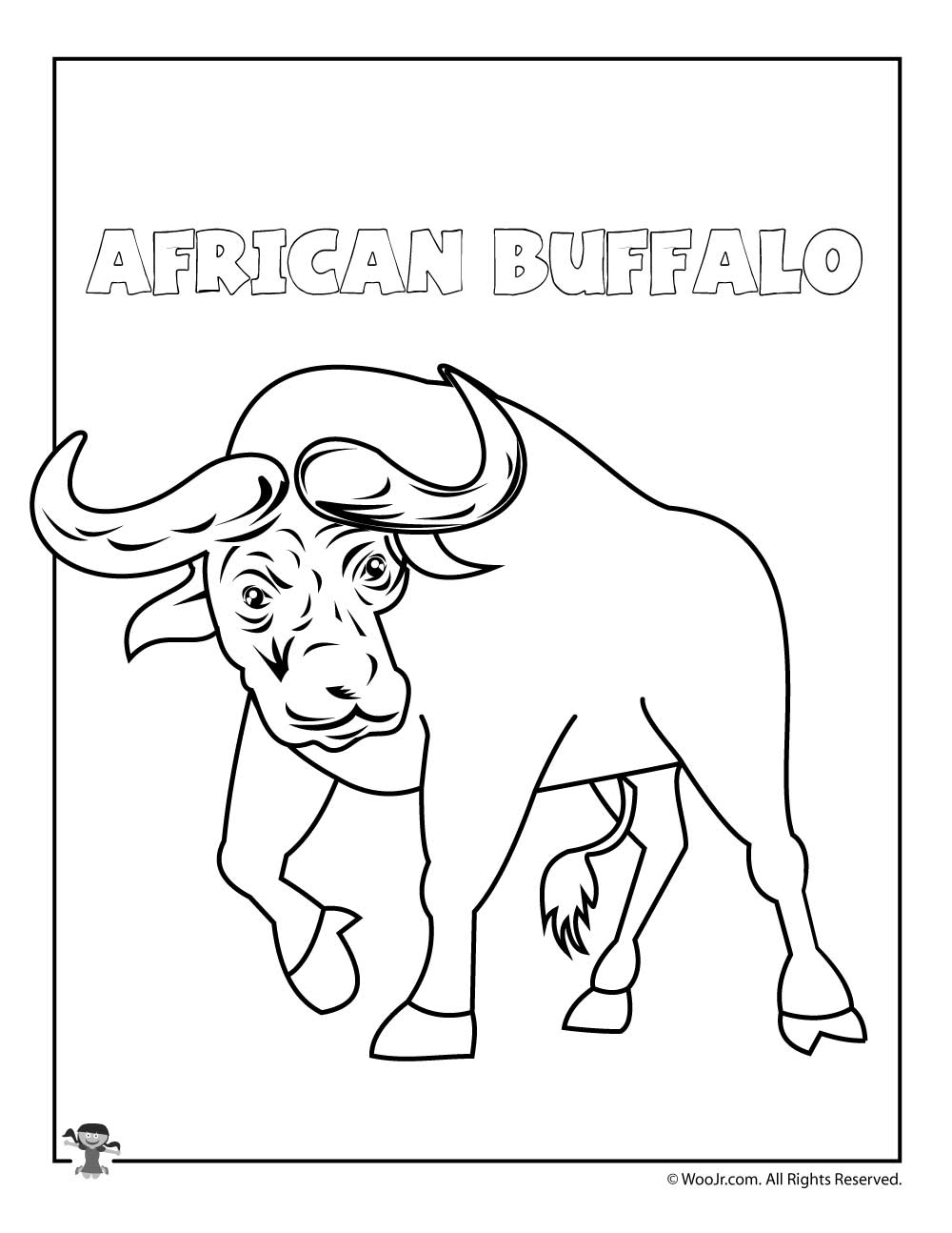 buffalo coloring pages - photo#29