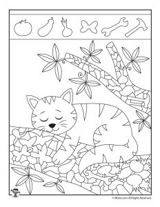 Kitten Hidden Objects Printable