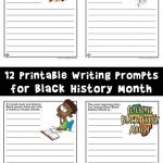 Writing Prompt Worksheets for Black History Month