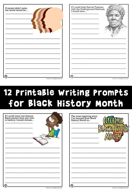 12 Printable Writing Prompts for Black History Month