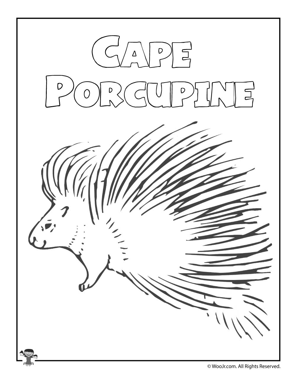 Cape Porcupine | Woo! Jr. Kids Activities