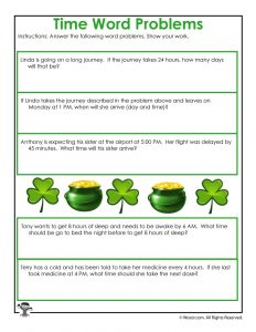 St. Patrick's Day Time Worksheet