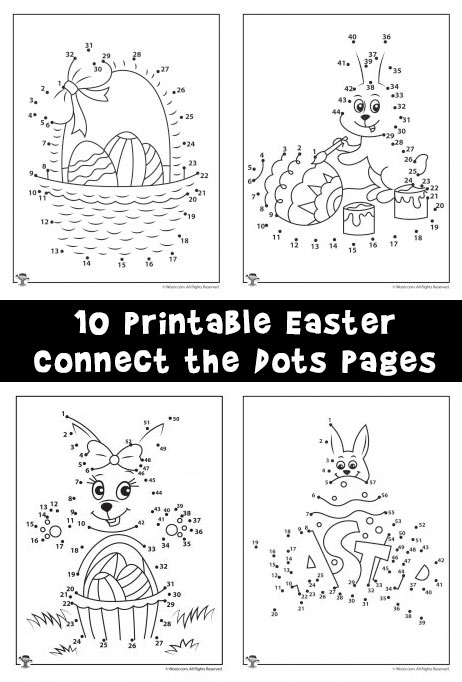 Easter Connect The Dots Printables Woo Jr Kids Activities