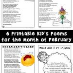 Kids Poems for the Month of February