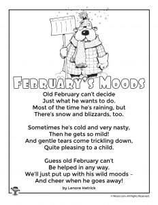 February's Moods Children's Poem