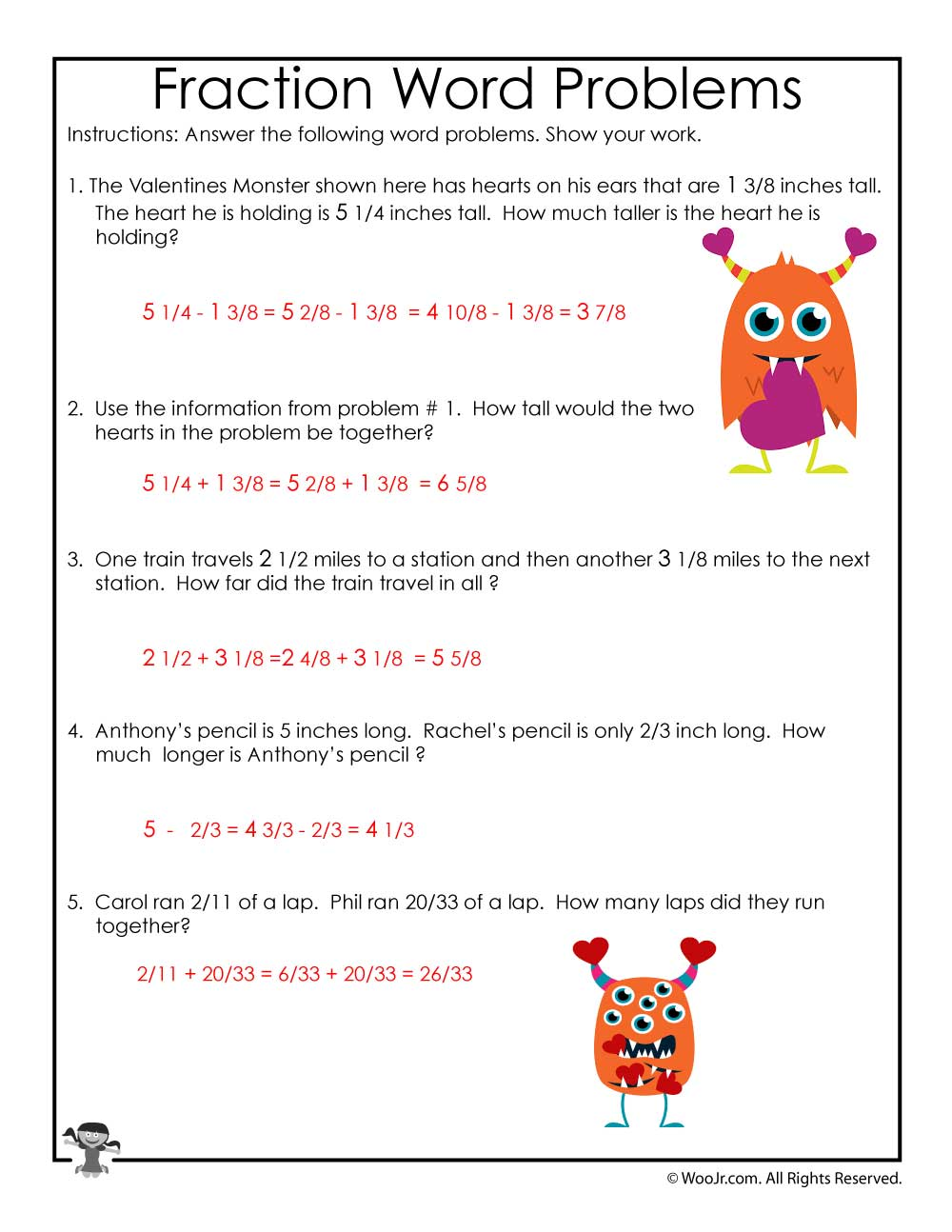 worksheet On The Button Math Worksheet valentines day math fractions worksheet answer key woo jr kids activities