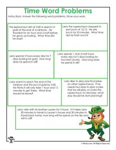 Leprechaun 3rd Grade Math Worksheet