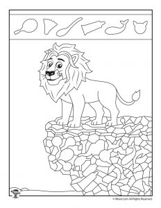 Lion Hidden Objects Page