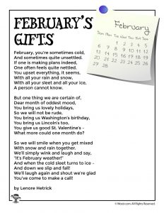 February's Gifts Poem for Kids