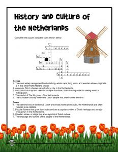 Netherlands History and Culture Crossword Puzzle Answer Key