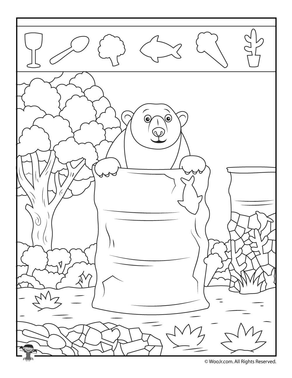 Camping Bear Hidden Object Puzzle Woo Jr Kids Activities