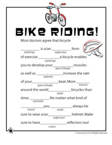 Spring Ad Libs – Bicycle Riding!