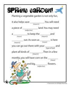 Spring Ad Libs – Spring Garden!
